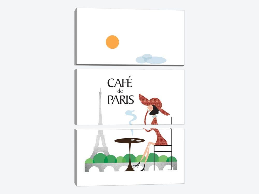 Café de Paris by TomasDesign 3-piece Canvas Art