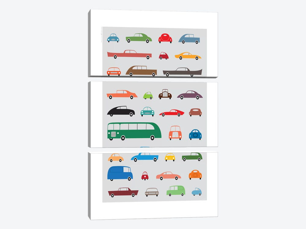 Cars by TomasDesign 3-piece Canvas Art Print