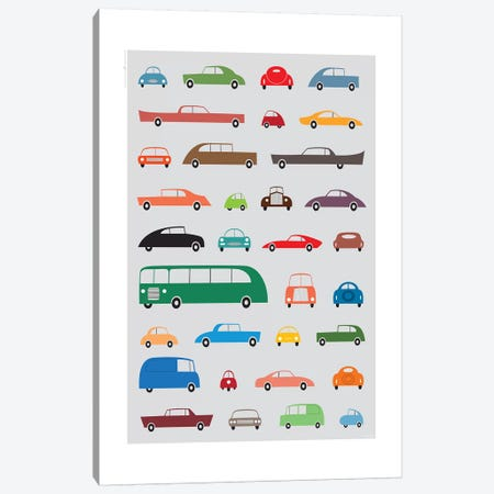 Cars Canvas Print #TDE12} by TomasDesign Canvas Artwork