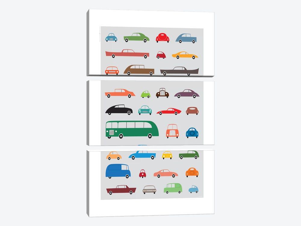 Cars by TomasDesign 3-piece Canvas Art Print
