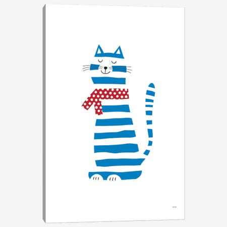Cat Canvas Print #TDE13} by TomasDesign Canvas Artwork
