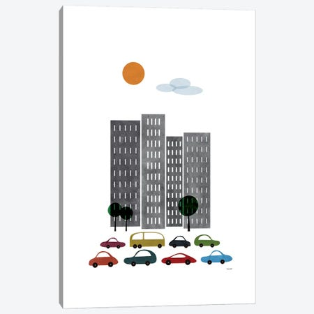 City I Canvas Print #TDE14} by TomasDesign Art Print