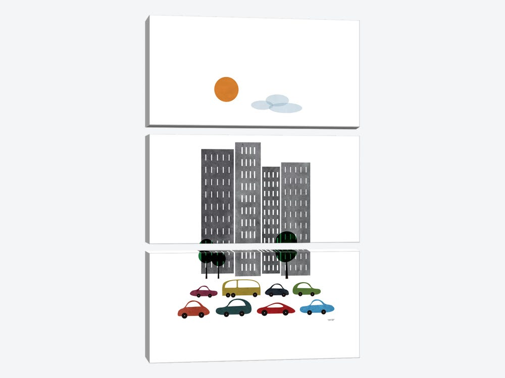 City I by TomasDesign 3-piece Canvas Print