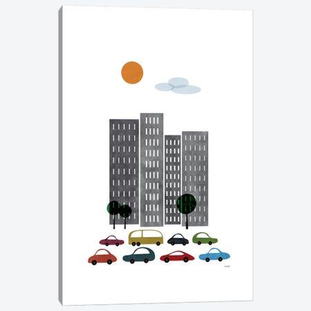 City I 3-Piece Canvas #TDE14} by TomasDesign Art Print
