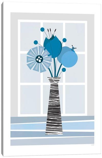 Flowers (Blue) Canvas Art Print