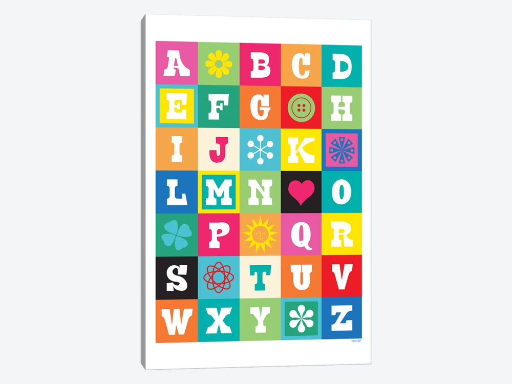 ABC by TomasDesign 1-piece Canvas Artwork