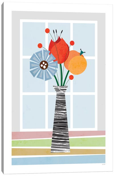 Flowers (Colourful) Canvas Art Print