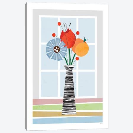 Flowers (Colourful) Canvas Print #TDE20} by TomasDesign Canvas Art Print