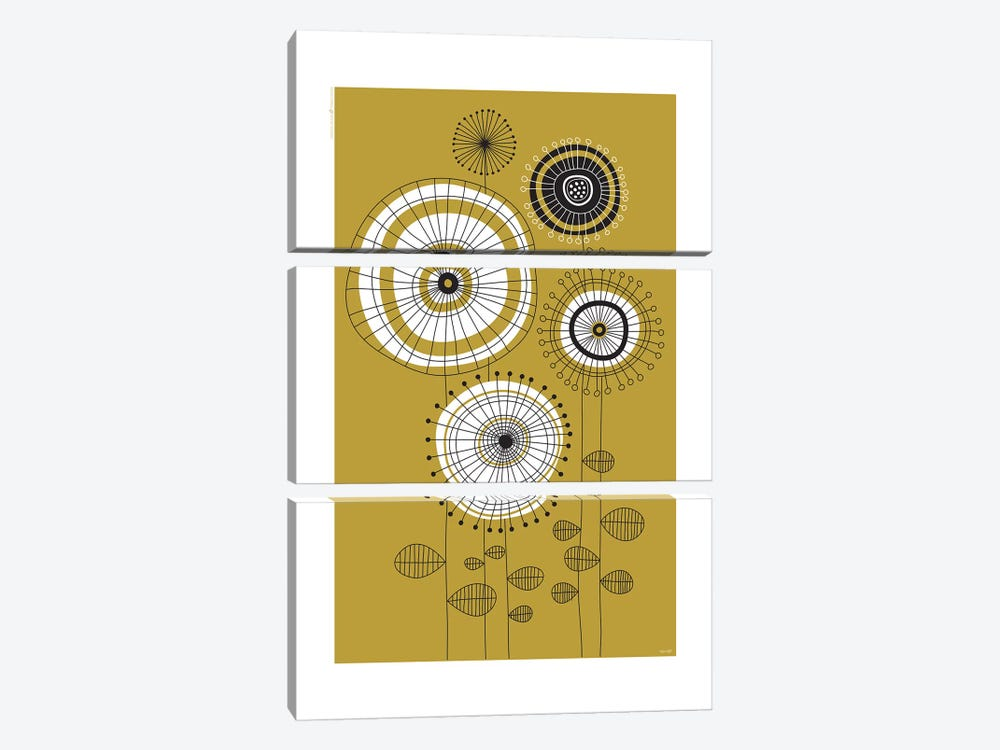 Flowers VI by TomasDesign 3-piece Canvas Print