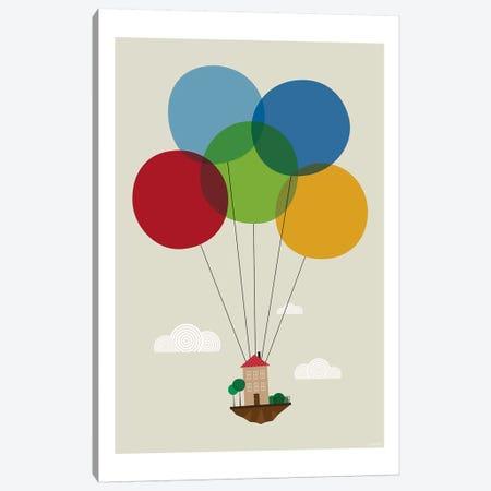 Flying House Canvas Print #TDE26} by TomasDesign Canvas Art