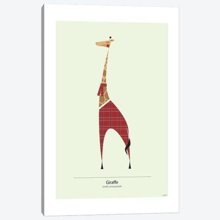 Giraffe Canvas Print #TDE29} by TomasDesign Canvas Art Print