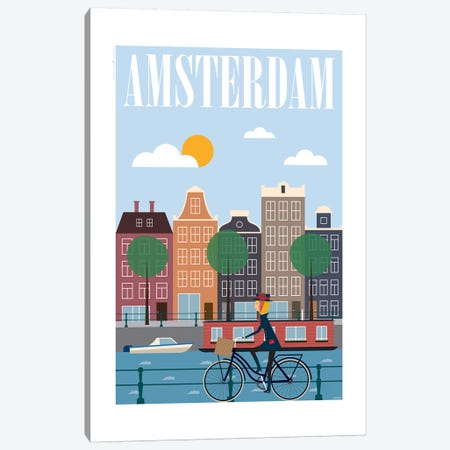 Amsterdam Canvas Print #TDE2} by TomasDesign Canvas Artwork