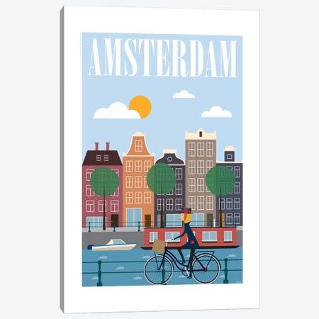 Amsterdam Canvas Print #TDE2} by TomasDesign Canvas Artwork