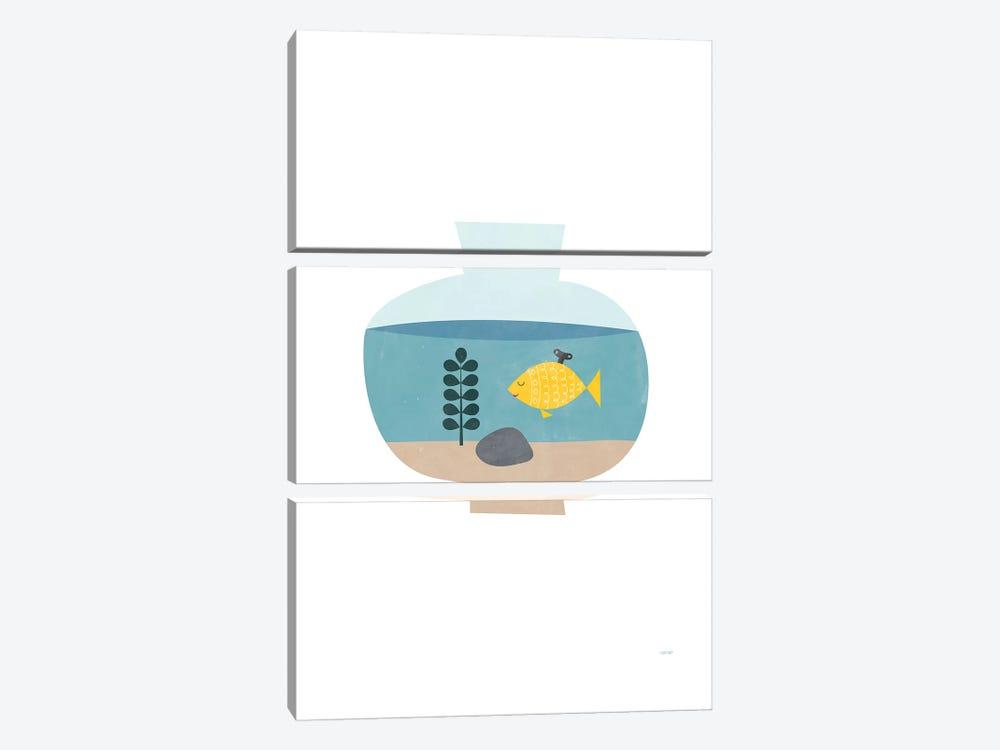 Goldfish by TomasDesign 3-piece Canvas Print