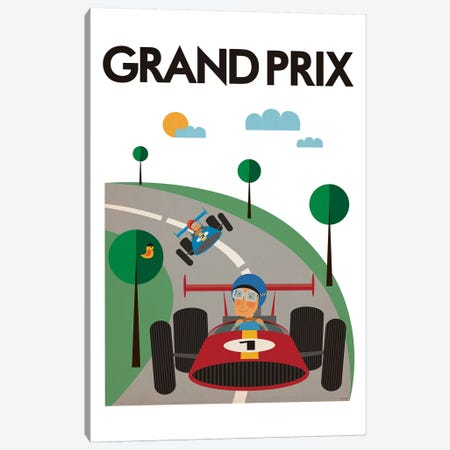 Grand Prix Canvas Print #TDE32} by TomasDesign Canvas Artwork