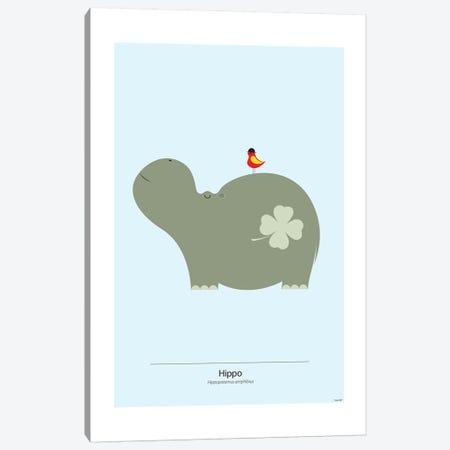 Hippo Canvas Print #TDE33} by TomasDesign Canvas Art