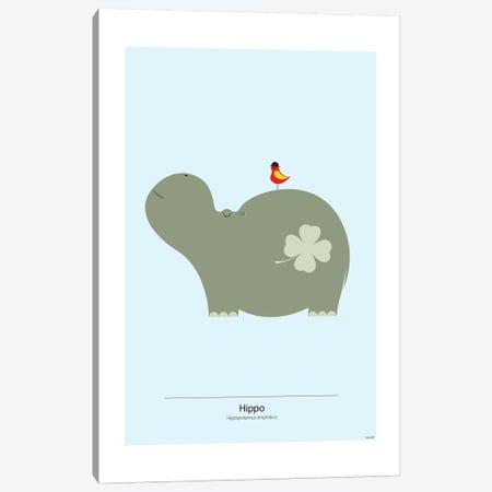 Hippo Canvas Print #TDE33} by TomasDesign Canvas Art