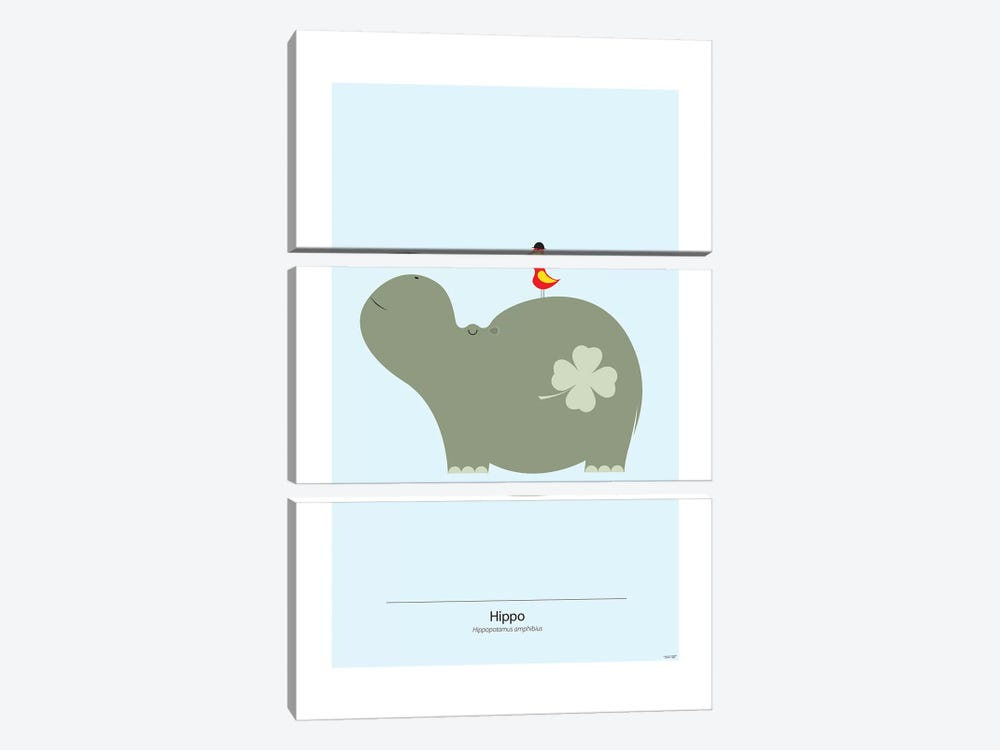 Hippo by TomasDesign 3-piece Canvas Wall Art