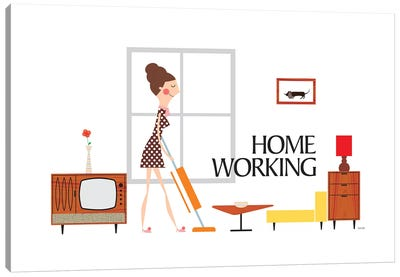 Home Working Canvas Art Print