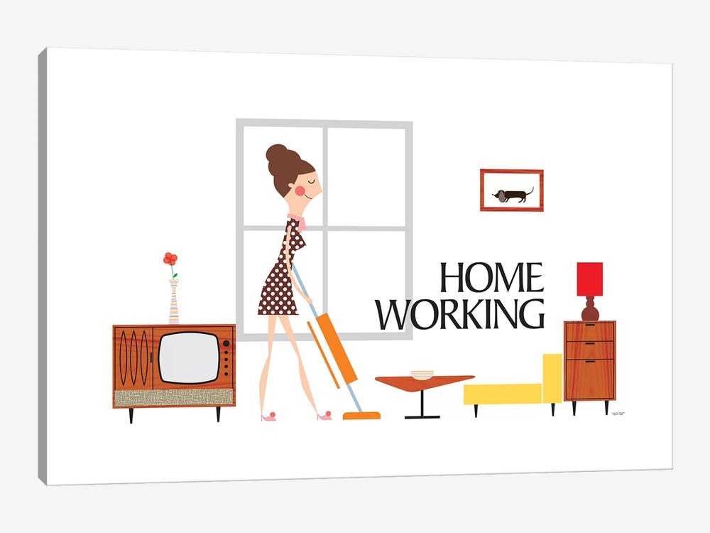 Home Working by TomasDesign 1-piece Art Print