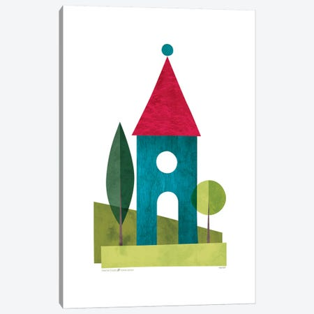 Houses Canvas Print #TDE37} by TomasDesign Art Print