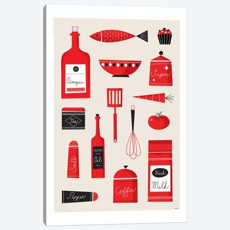Kitchen Art Canvas Print #TDE38} by TomasDesign Canvas Artwork