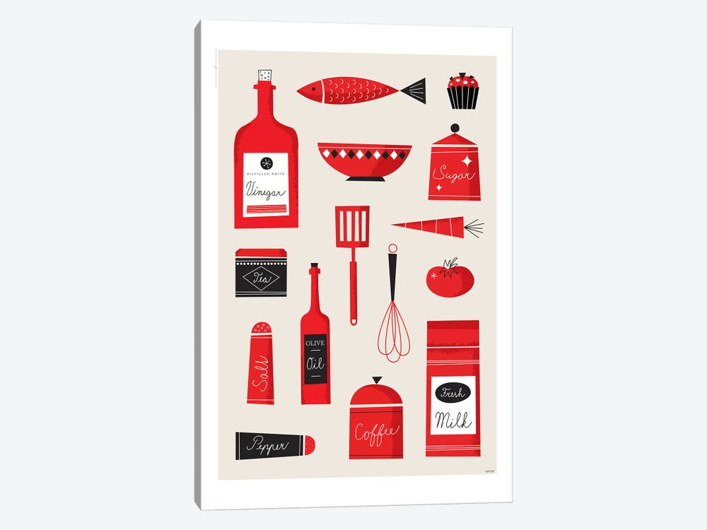 Kitchen Art by TomasDesign 1-piece Art Print