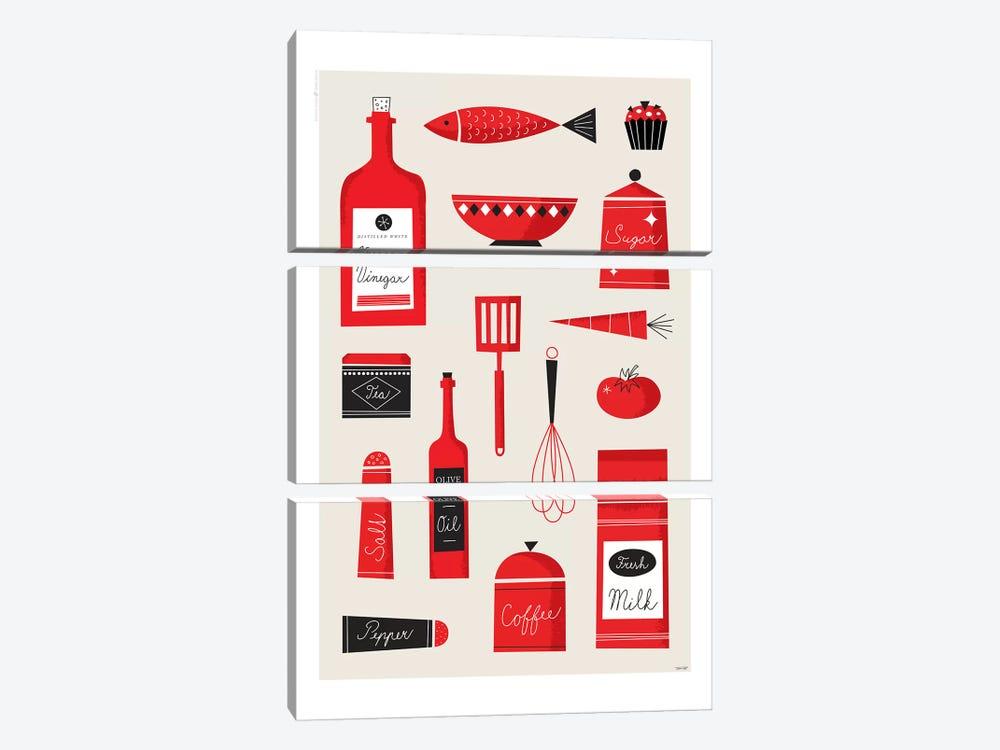 Kitchen Art by TomasDesign 3-piece Canvas Art Print