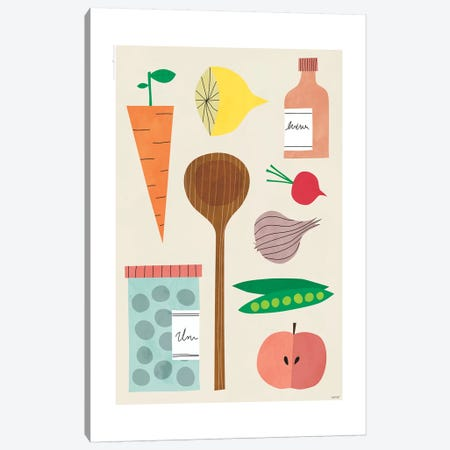 Kitchen Décor Canvas Print #TDE39} by TomasDesign Canvas Artwork