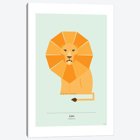 Lion Canvas Print #TDE40} by TomasDesign Canvas Art Print