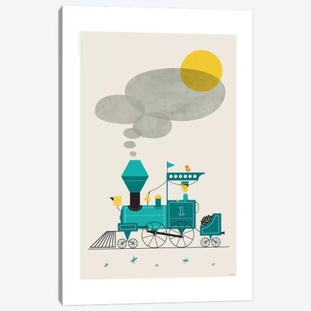 Locomotive 3-Piece Canvas #TDE41} by TomasDesign Canvas Art Print