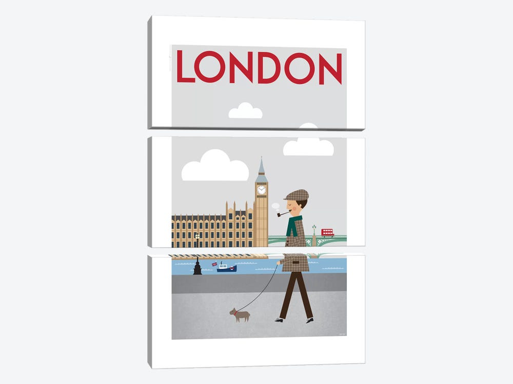 London by TomasDesign 3-piece Canvas Artwork