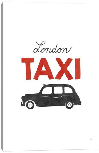 London Taxi Canvas Art Print