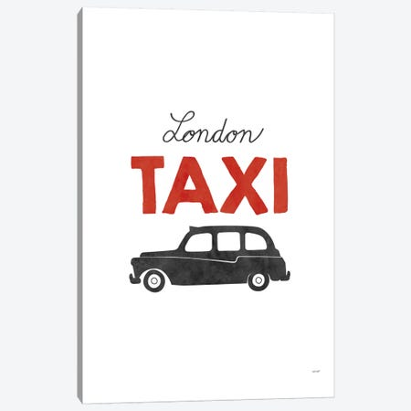 London Taxi Canvas Print #TDE43} by TomasDesign Canvas Art Print
