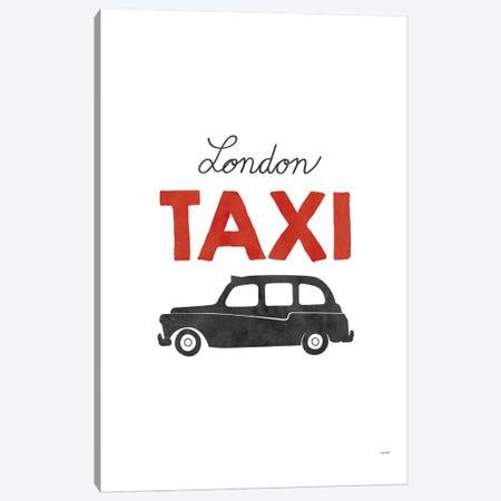 London Taxi Canvas Print #TDE43} by TomasDesign Canvas Art Print
