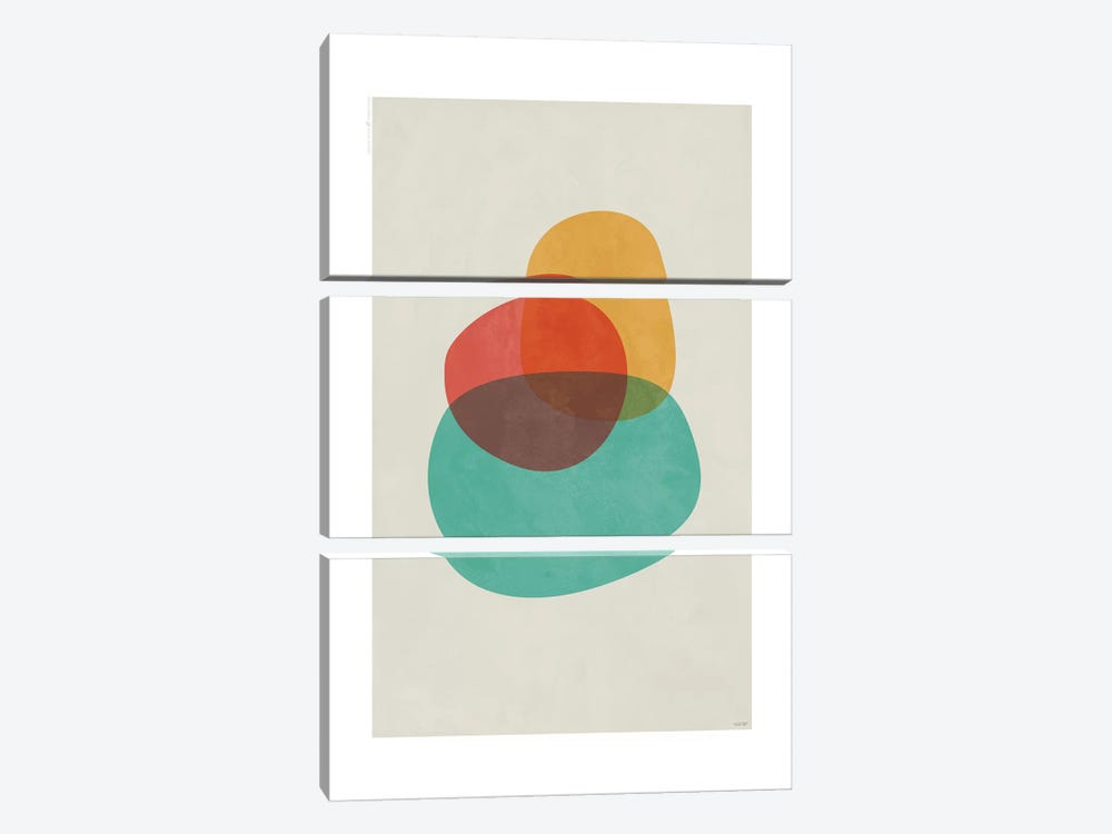 Modern Abstract II by TomasDesign 3-piece Art Print