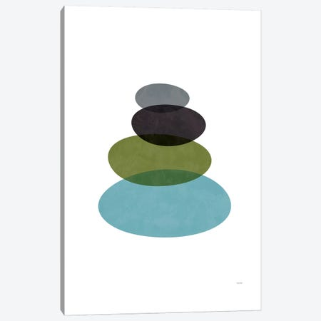 Modern Stones Canvas Print #TDE55} by TomasDesign Canvas Art Print