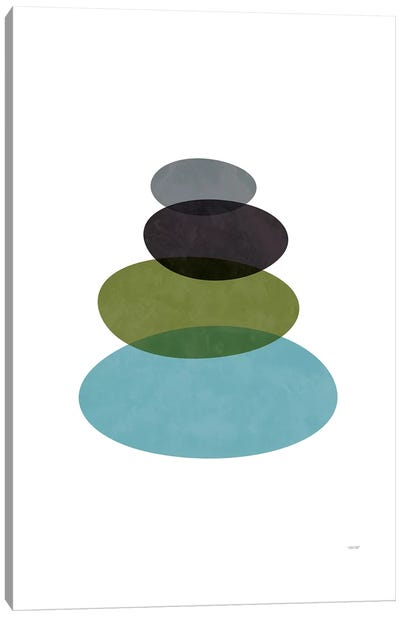 Modern Stones Canvas Art Print