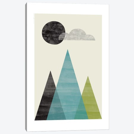Mountains I 3-Piece Canvas #TDE56} by TomasDesign Art Print