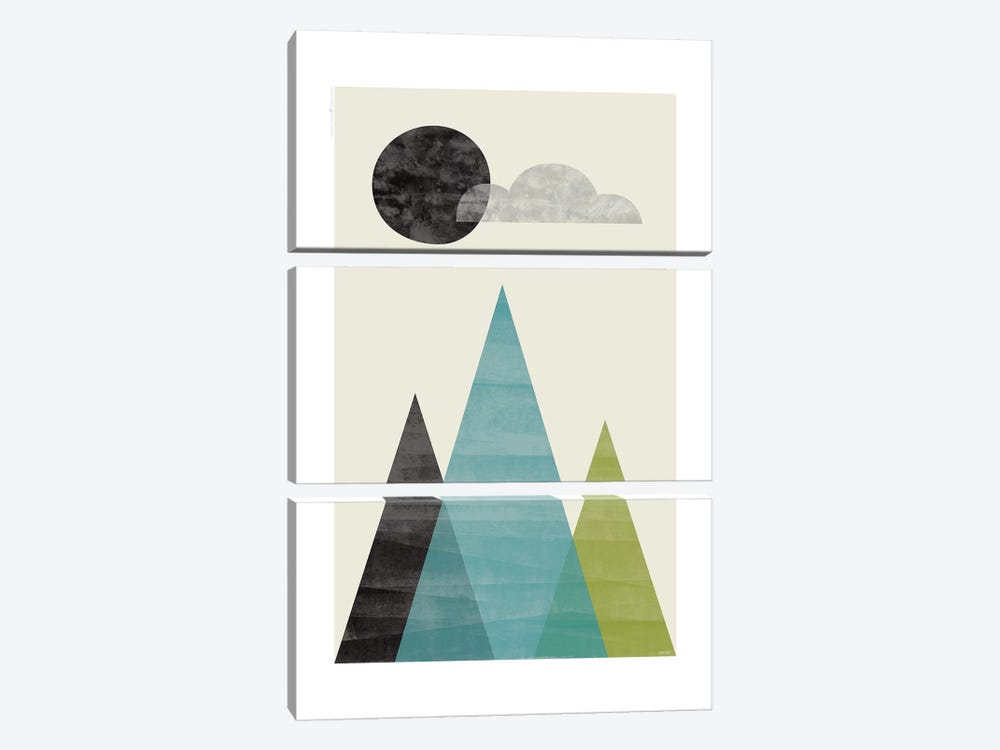 Mountains I by TomasDesign 3-piece Art Print