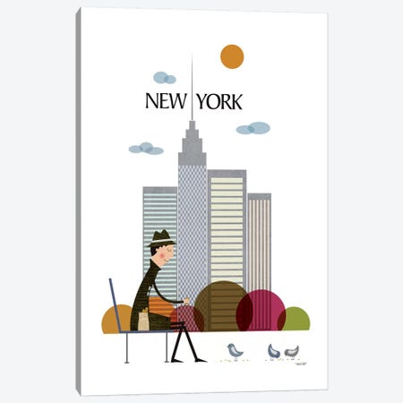 New York Canvas Print #TDE58} by TomasDesign Canvas Artwork