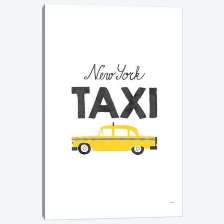 New York Taxi Canvas Print #TDE59} by TomasDesign Canvas Wall Art