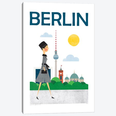 Berlin Canvas Print #TDE5} by TomasDesign Art Print