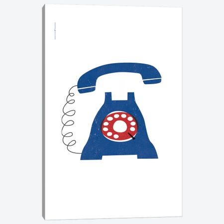 Phone (Blue) Canvas Print #TDE61} by TomasDesign Canvas Art Print