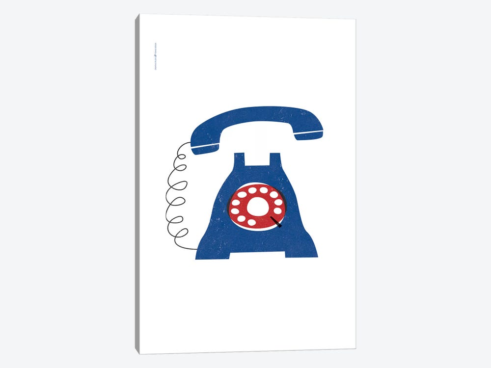 Phone (Blue) by TomasDesign 1-piece Canvas Art Print