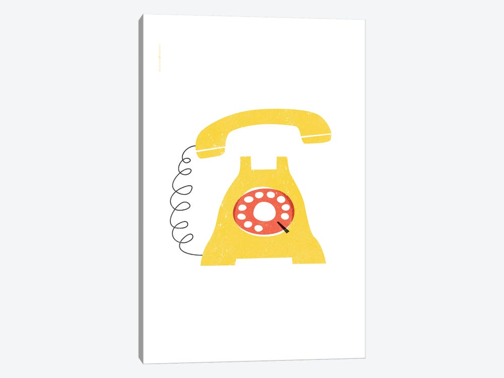 Phone (Yellow) by TomasDesign 1-piece Canvas Wall Art