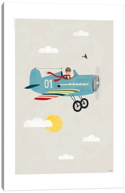 Plane Canvas Art Print