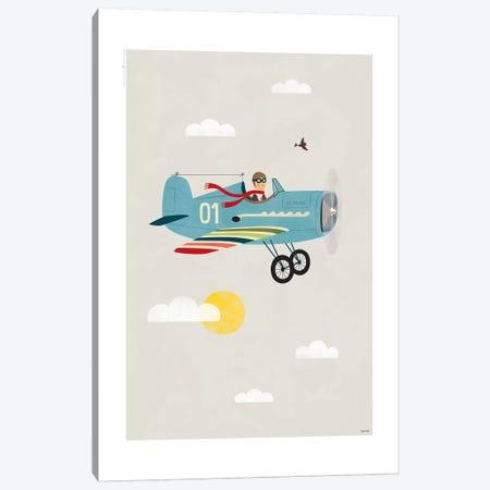 Plane 3-Piece Canvas #TDE63} by TomasDesign Art Print