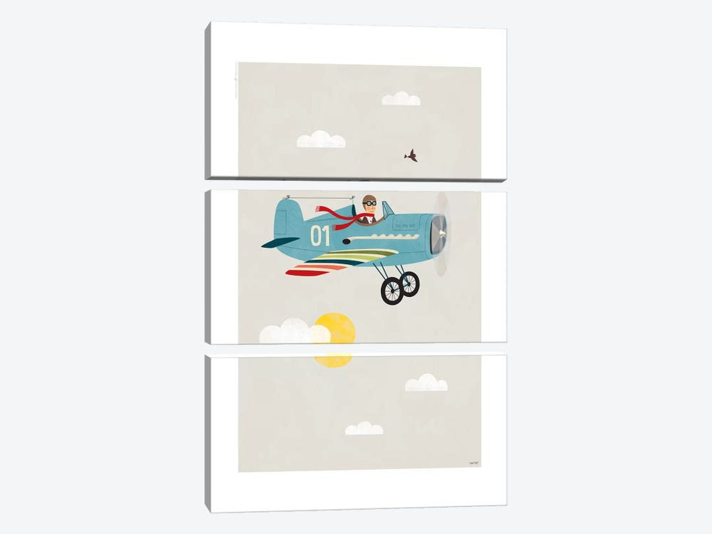 Plane by TomasDesign 3-piece Canvas Print