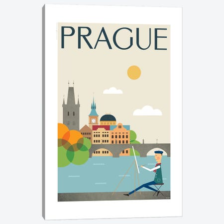 Prague Canvas Print #TDE64} by TomasDesign Canvas Artwork